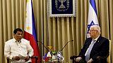 Le président israélien fait la leçon au président philippin sur Hitler