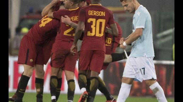 Roma-Lazio,si gioca sabato 29/9 alle 15