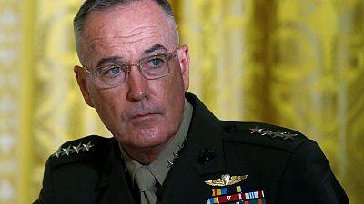 Top U.S. general warns against major assault on Syria's Idlib