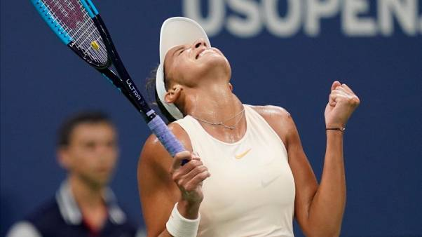 Keys locks another U.S. Open semi-final