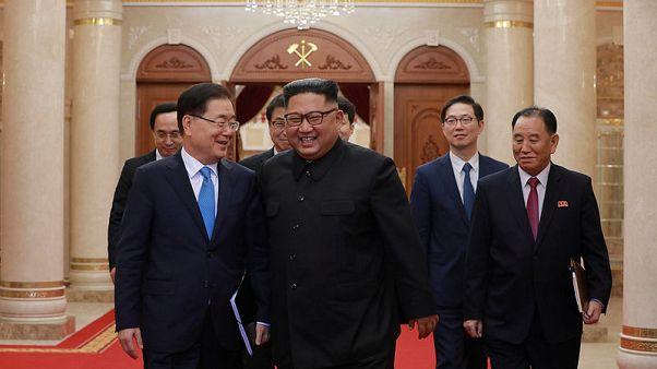 North Korea's Kim Jong Un says two Koreas should further efforts for denuclearisation - KCNA