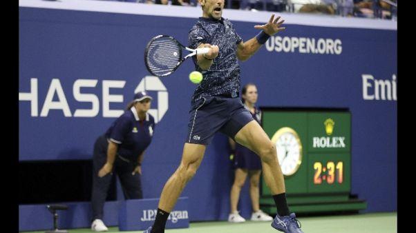 Tennis: Us Open, Djokovic in semifinale