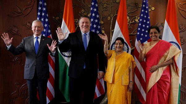 أمريكا والهند توقعان معاهدة اتصالات عسكرية وتعتزمان إجراء مناورات