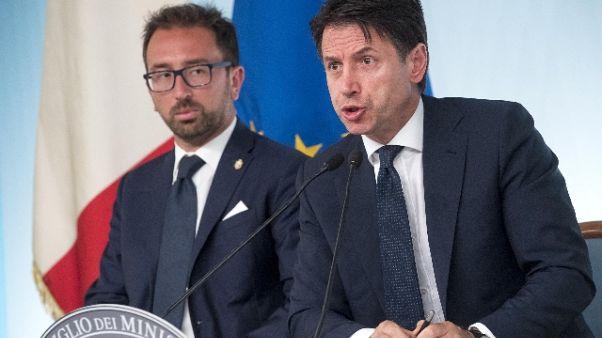 """Anticorruzione, Conte: """"Il ddl é solido"""""""