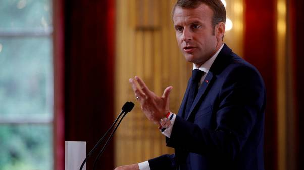 Macron takes election dig at Merkel's party over Hungary