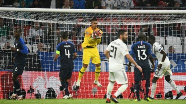 Ligue des nations: les Bleus accrochés, les Gallois et Bale déroulent