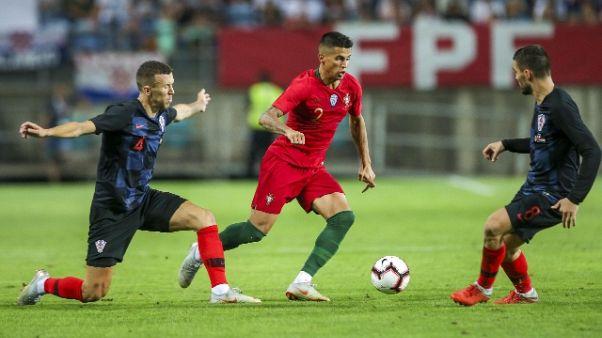 Ronaldo non c'è, Portogallo-Croazia 1-1