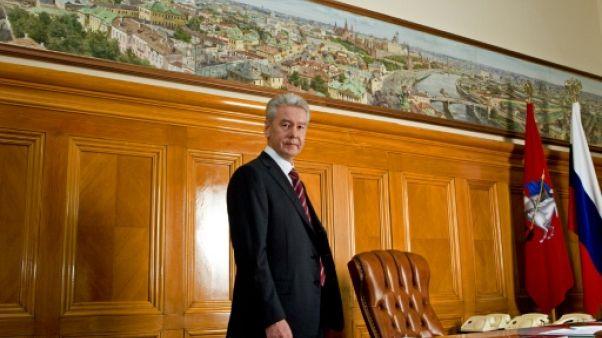 Le maire de Moscou Sergueï Sobianine dans son bureau, le 24 octobre 2010