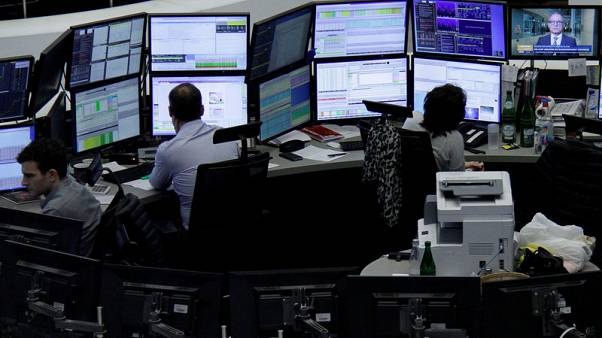 European shares edge higher as trade uncertainty boosts defensives