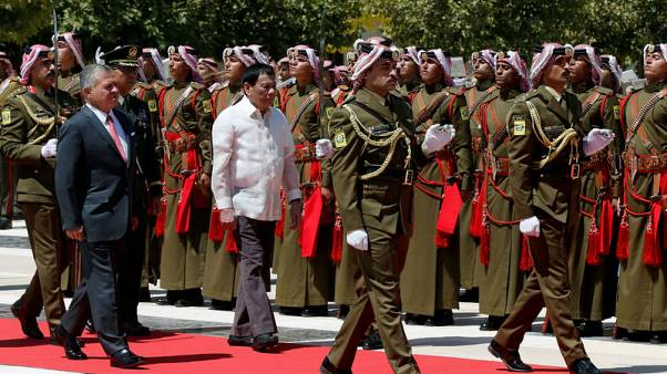 Philippines' Duterte offers troops to Jordan to fight militants