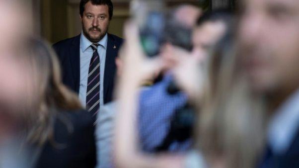 Le ministre italien de l'Intérieur Matteo Salvini à Milan, le 29 août 2018
