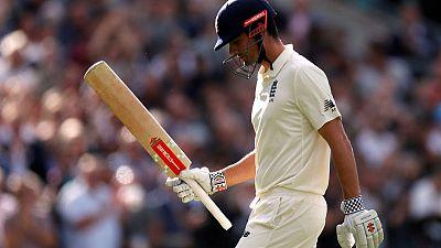 Cricket - Departing Cook denied farewell century