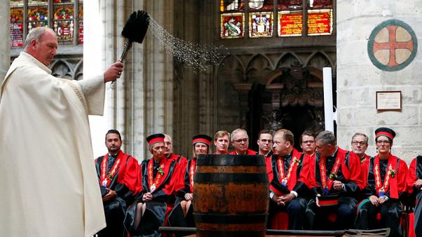 Belgium blesses its beer on brewers' day