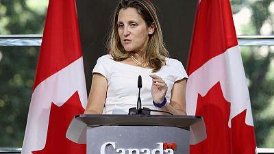 Canada's Freeland sees 'very good progress' in NAFTA trade talks
