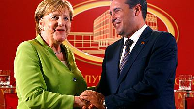 Merkel urges Macedonians to embrace name deal with Greece