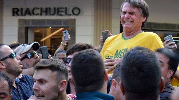 Stabbed Brazilian presidential candidate stable, in therapy