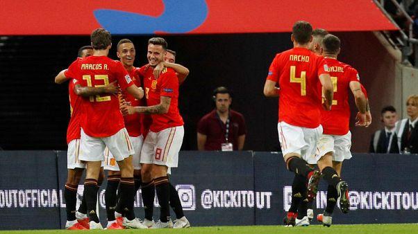 اسبانيا تستهل عهد انريكي بالفوز على انجلترا في دوري الأمم