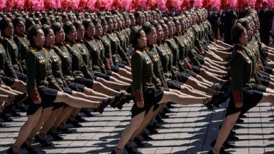 Défilé militaire à Pyongyang, le 9 septembre 2018