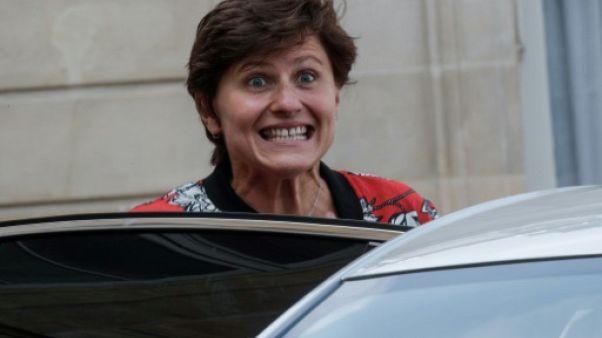 La ministre des Sports Roxana Maracineanu à l'Elysée le 5 septembre 2018