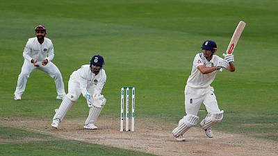 Cook's farewell knock helps England seize control