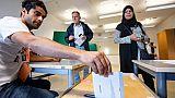 Un bureau de vote à Malmö le 9 septembre 2018