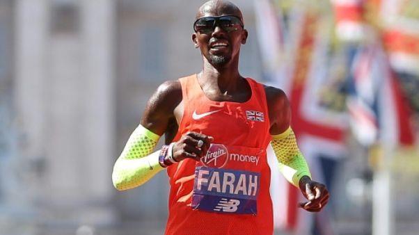 Mo Farah troisième du marathon de Londres le 22 avril 2018