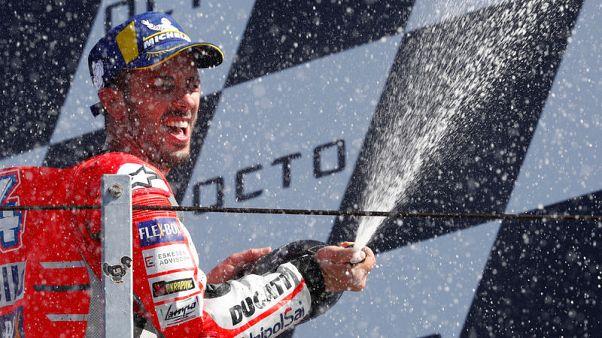 دوفيتسيوزو يفوز بسباق سان مارينو مع دوكاتي