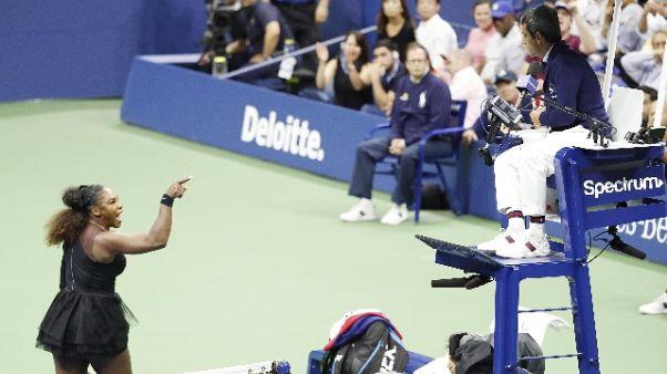 Us Open:S.Williams, 17mila dollari multa