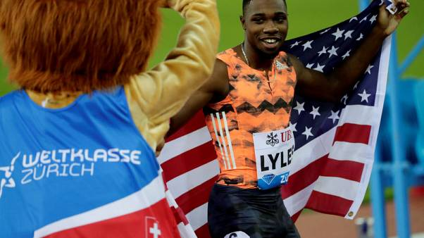 U.S. sprinter Lyles helps Americas win Continental Cup