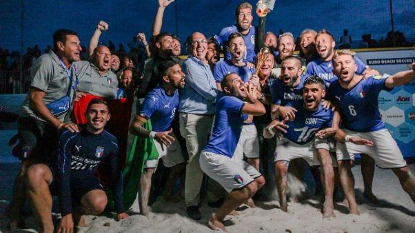 Beach Soccer: Italia campione d'Europa