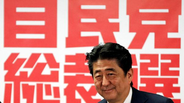 Japan's Abe aims for constitution change in bid for extended term