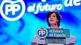 Soraya Saenz de Santamaria prononce un discours à Madrid le 21 juillet 2018