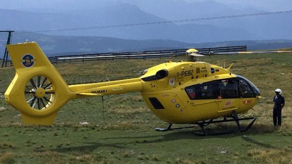 Elicottero precipita, due feriti lievi