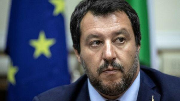 Le ministre italien de l'Intérieur Matteo Salvini à Milan le 28 août 2018