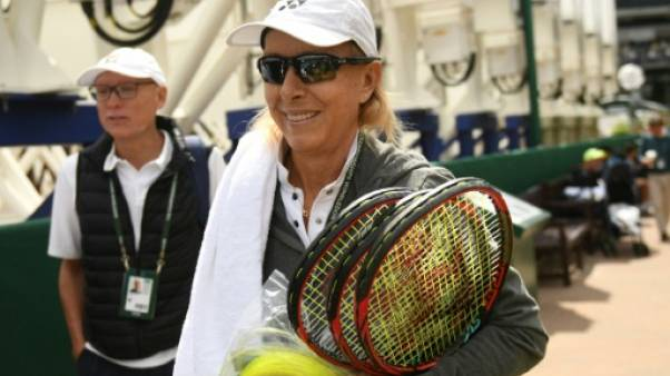 L'ancienne championne Martina Navratilova, le 10 juillet 2018 à Wimbledon