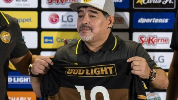 Diego Maradona le 10 septembre 2018 à Culiacan.