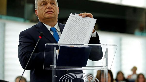 Hungary's Orban vows to defy EU pressure ahead of unprecedented vote