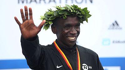 Kenya's Kipchoge eyes marathon world record in Berlin on Sunday