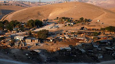 Protesters arrive at Bedouin village as Israeli demolition looms