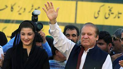 Pakistan's ex-PM Sharif, daughter released for his wife's funeral
