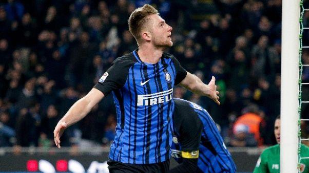 """Inter, Skriniar """"ora pensiamo al Parma"""""""