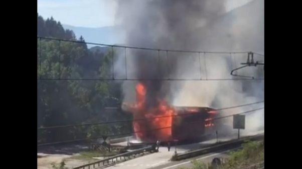 A fuoco falegnameria a Rio Pusteria