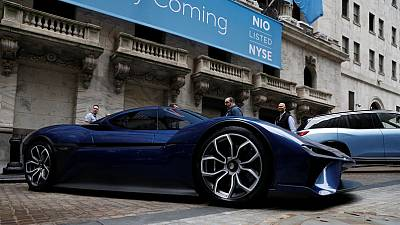 Chinese electric car maker NIO slumps in U.S. debut