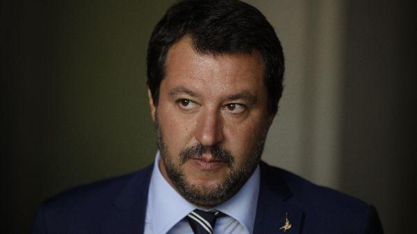 Salvini,dl sicurezza forte aumento fondi