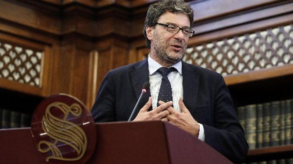 Manovra:Giorgetti, non tradiamo elettori