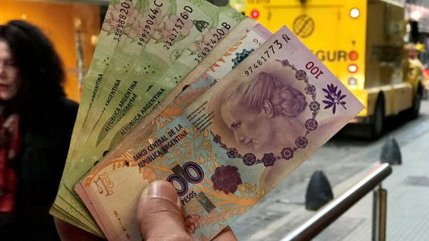 Argentine peso weakens to new record low close of 39.9 per dollar