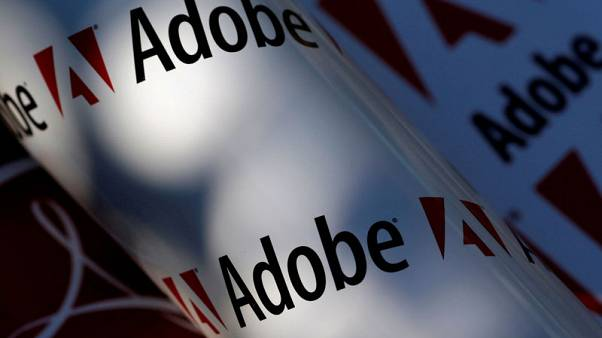 Adobe's in line revenue forecast pressures shares