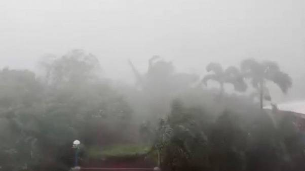 Wind, rain lashes north Philippines as huge typhoon approaches