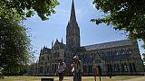 La cathédrale de Salisbury le 7 juillet 2018