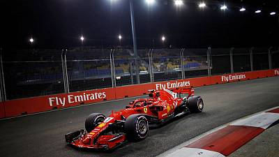 Raikkonen tops Singapore practice as Vettel toils